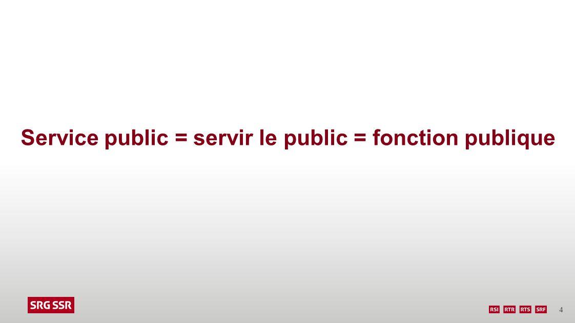 Service public = servir le public = fonction publique