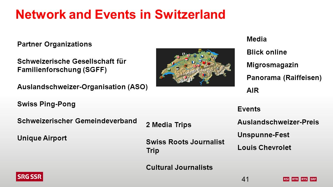 Network and Events in Switzerland
