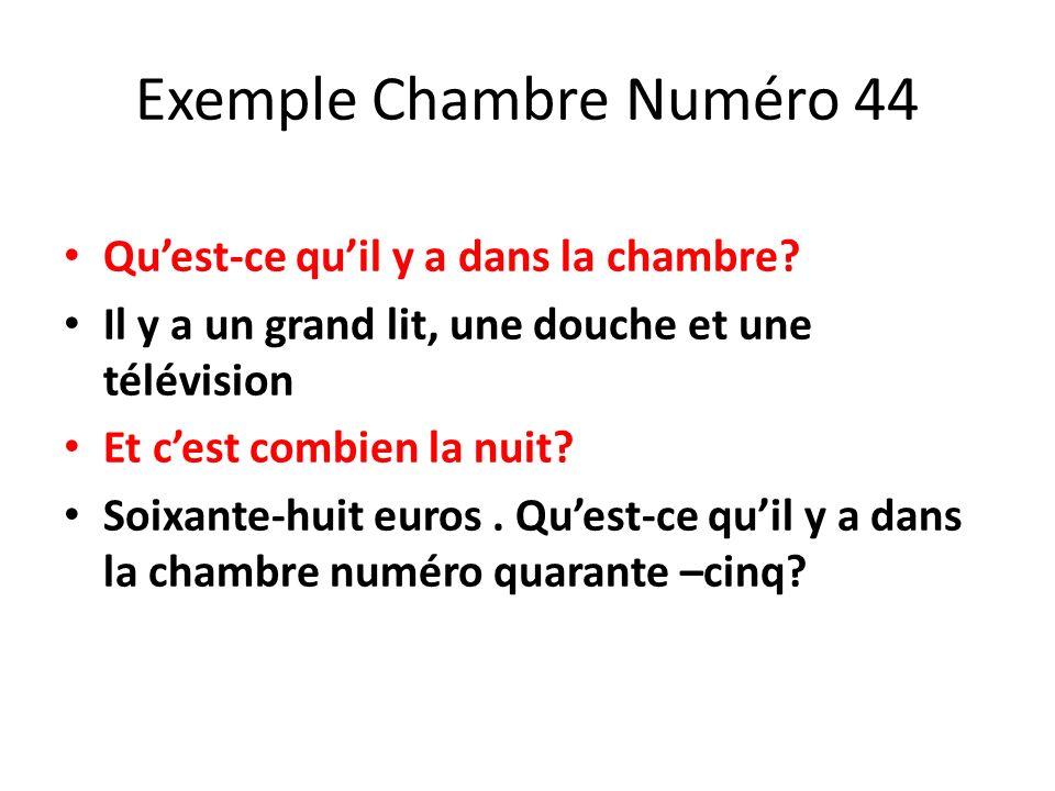 Exemple Chambre Numéro 44