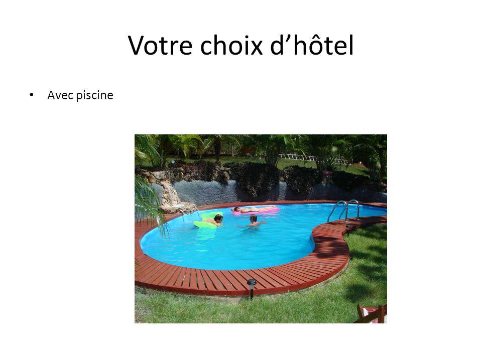 Votre choix d'hôtel Avec piscine