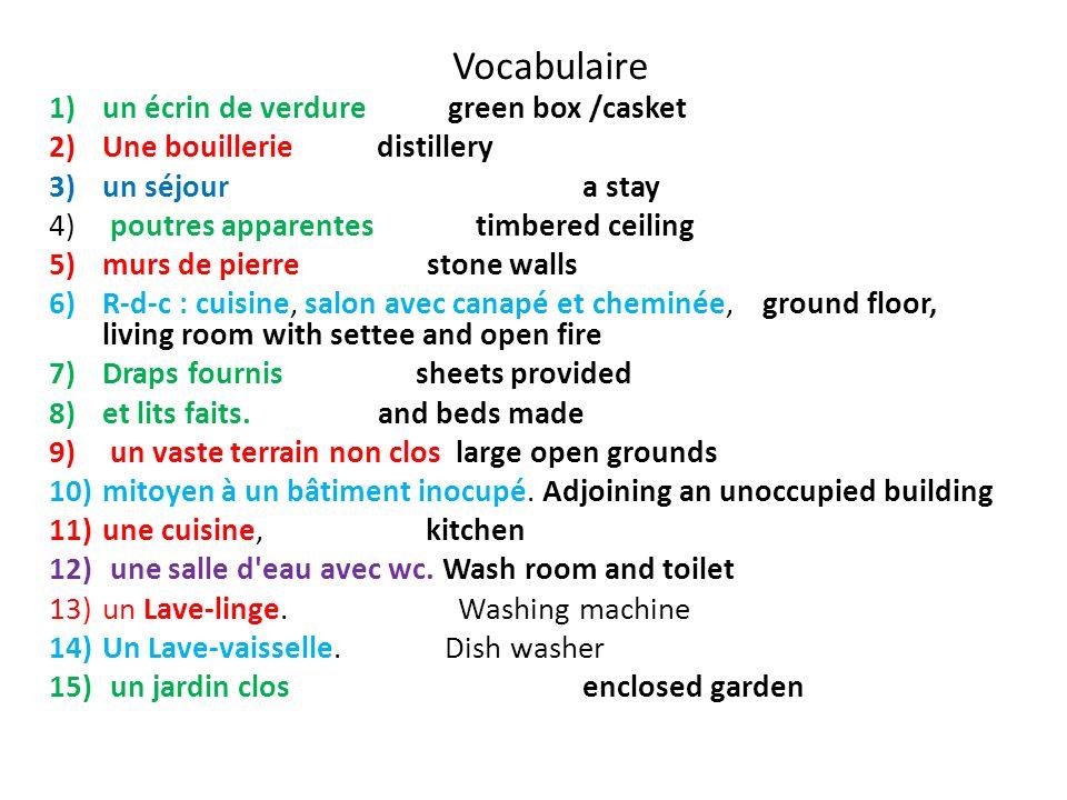 Vocabulaire un écrin de verdure green box /casket