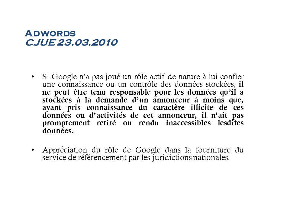 Adwords CJUE 23.03.2010