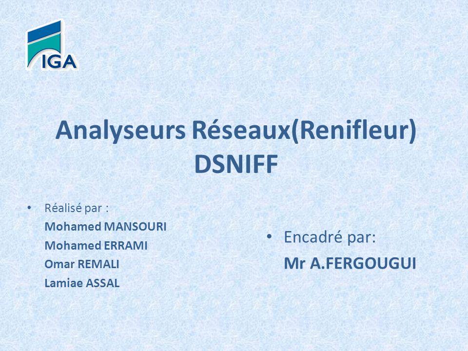 Analyseurs Réseaux(Renifleur) DSNIFF