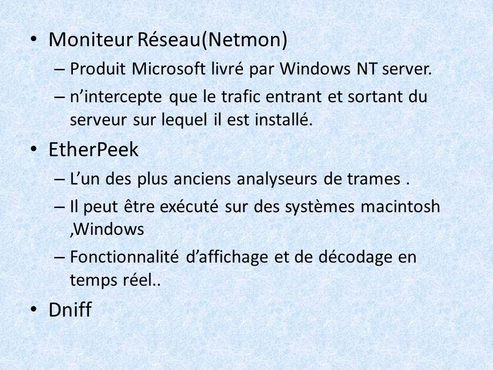 Moniteur Réseau(Netmon)