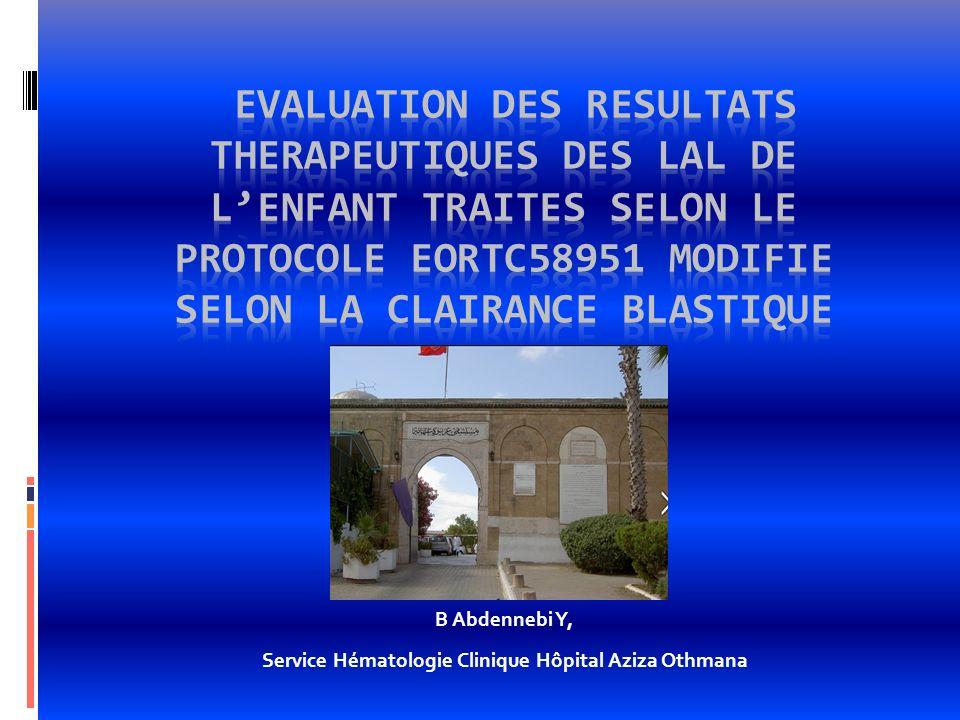 B Abdennebi Y, Service Hématologie Clinique Hôpital Aziza Othmana