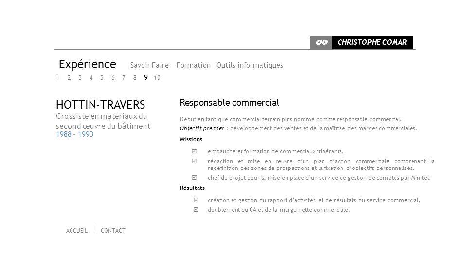 Expérience HOTTIN-TRAVERS Responsable commercial 9