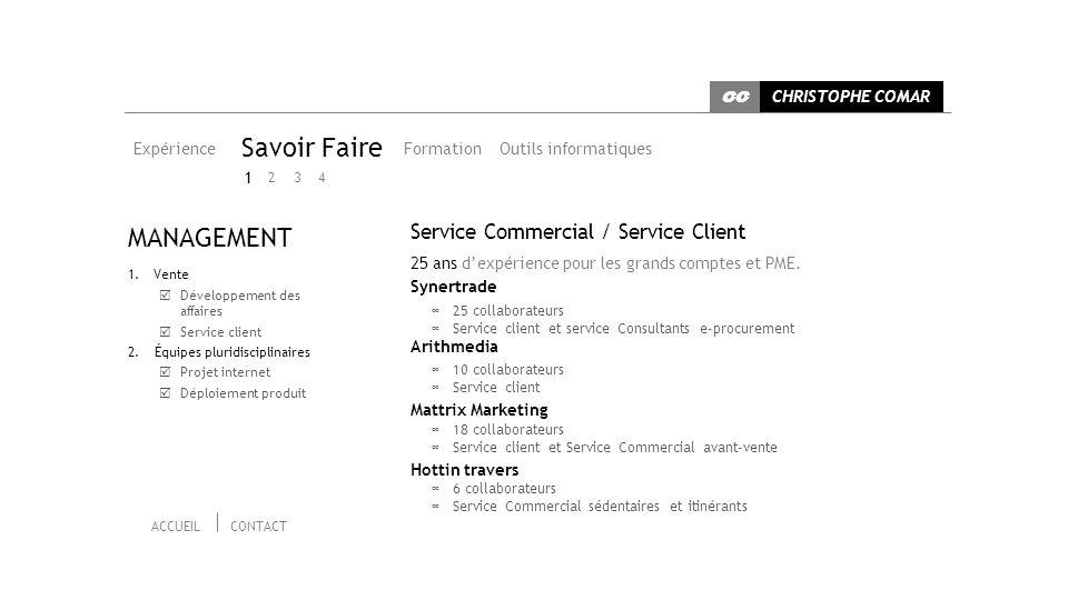 Savoir Faire MANAGEMENT Service Commercial / Service Client 1