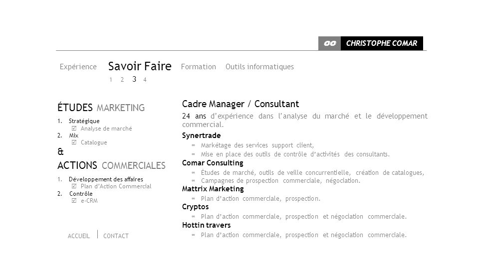 Savoir Faire ÉTUDES MARKETING ACTIONS COMMERCIALES