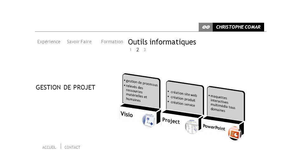 Outils informatiques GESTION DE PROJET Visio Project 2 PowerPoint