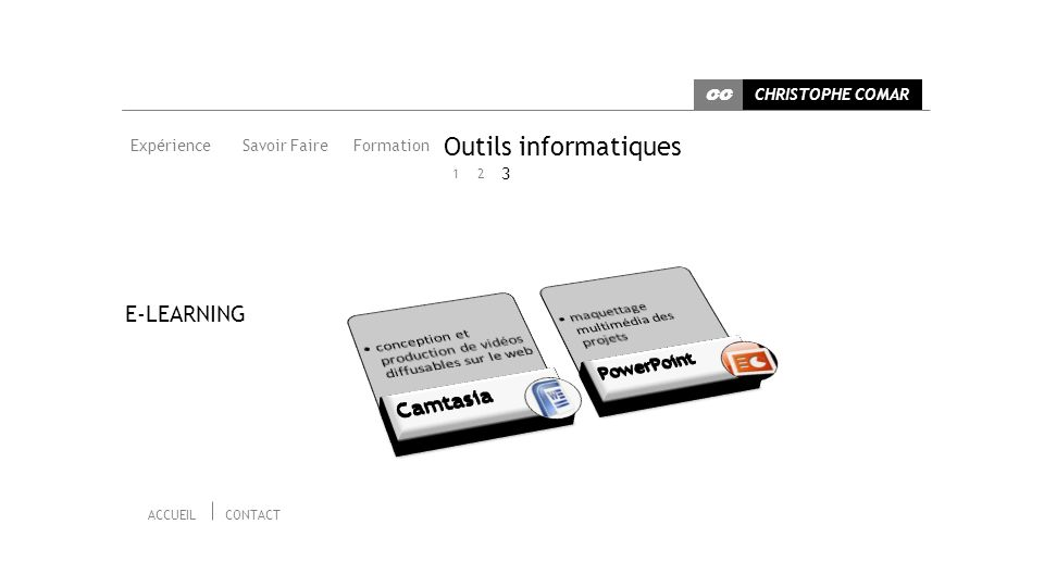 Outils informatiques Camtasia E-LEARNING PowerPoint