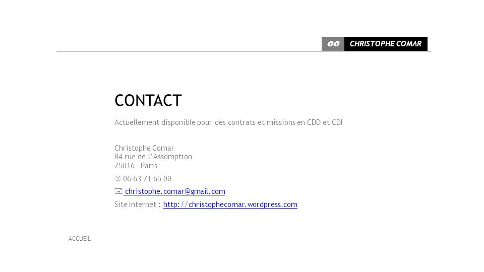 CONTACT CHRISTOPHE COMAR CC