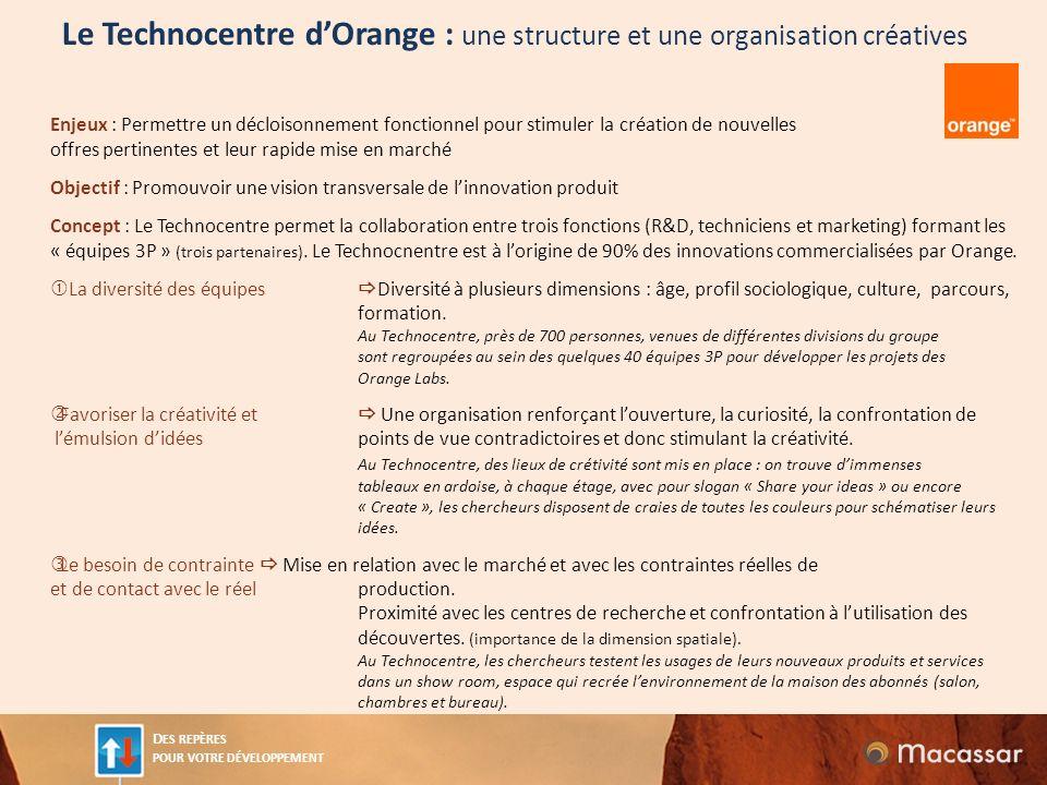 Le Technocentre d'Orange : une structure et une organisation créatives