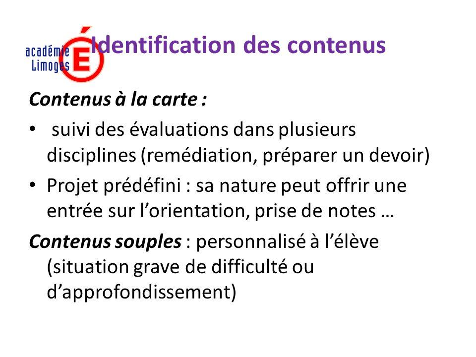 Identification des contenus