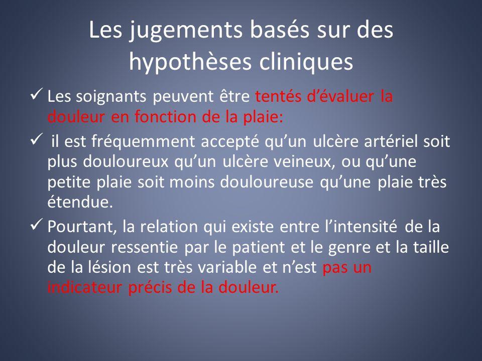 Les jugements basés sur des hypothèses cliniques