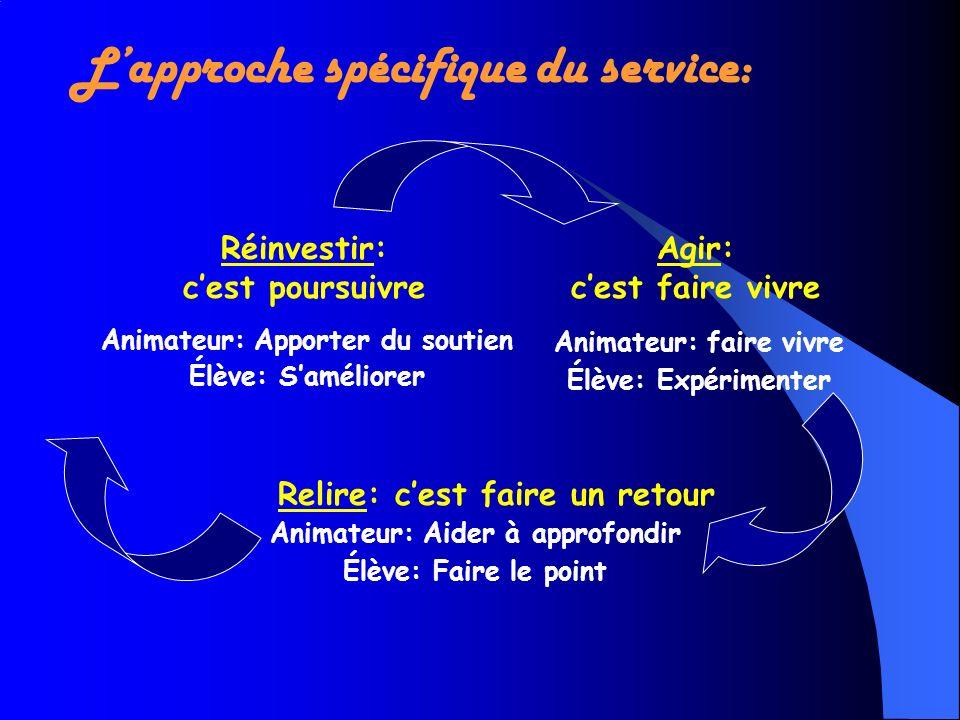 L'approche spécifique du service: