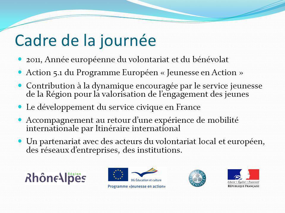 Cadre de la journée 2011, Année européenne du volontariat et du bénévolat. Action 5.1 du Programme Européen « Jeunesse en Action »