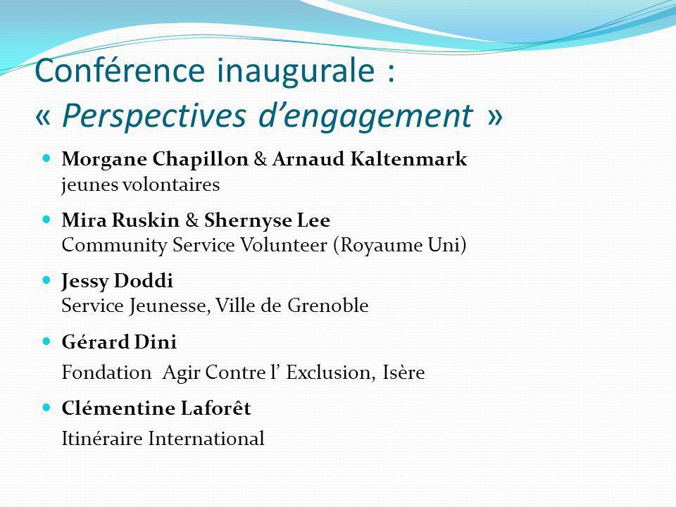 Conférence inaugurale : « Perspectives d'engagement »