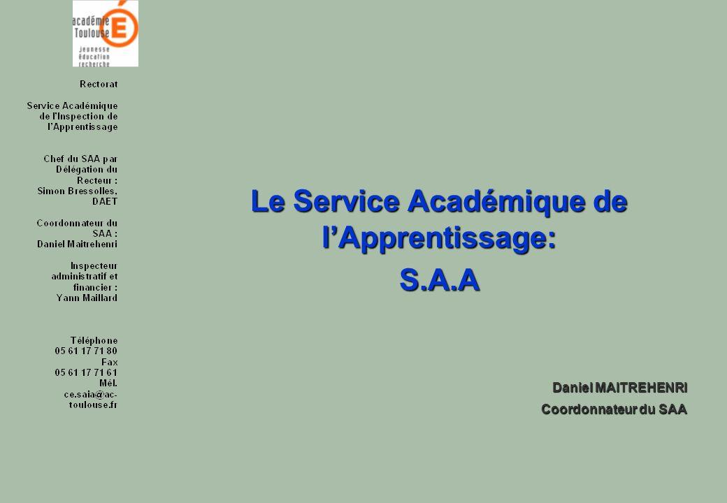 Le Service Académique de l'Apprentissage: