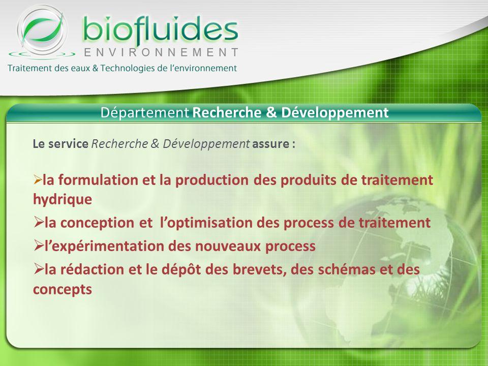 Département Recherche & Développement