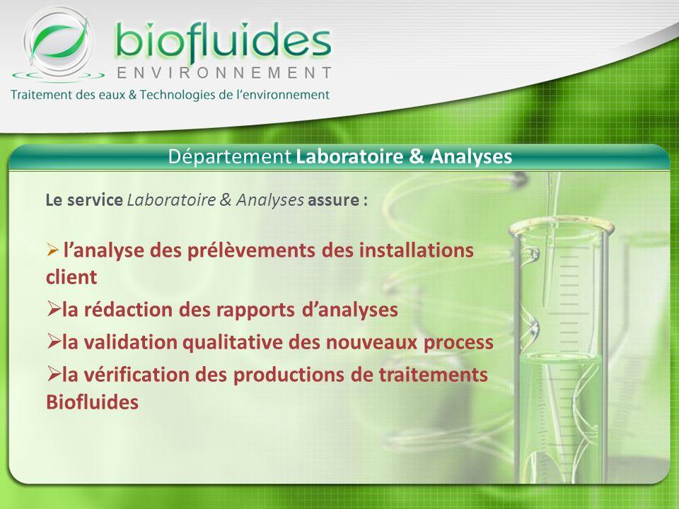 Département Laboratoire & Analyses