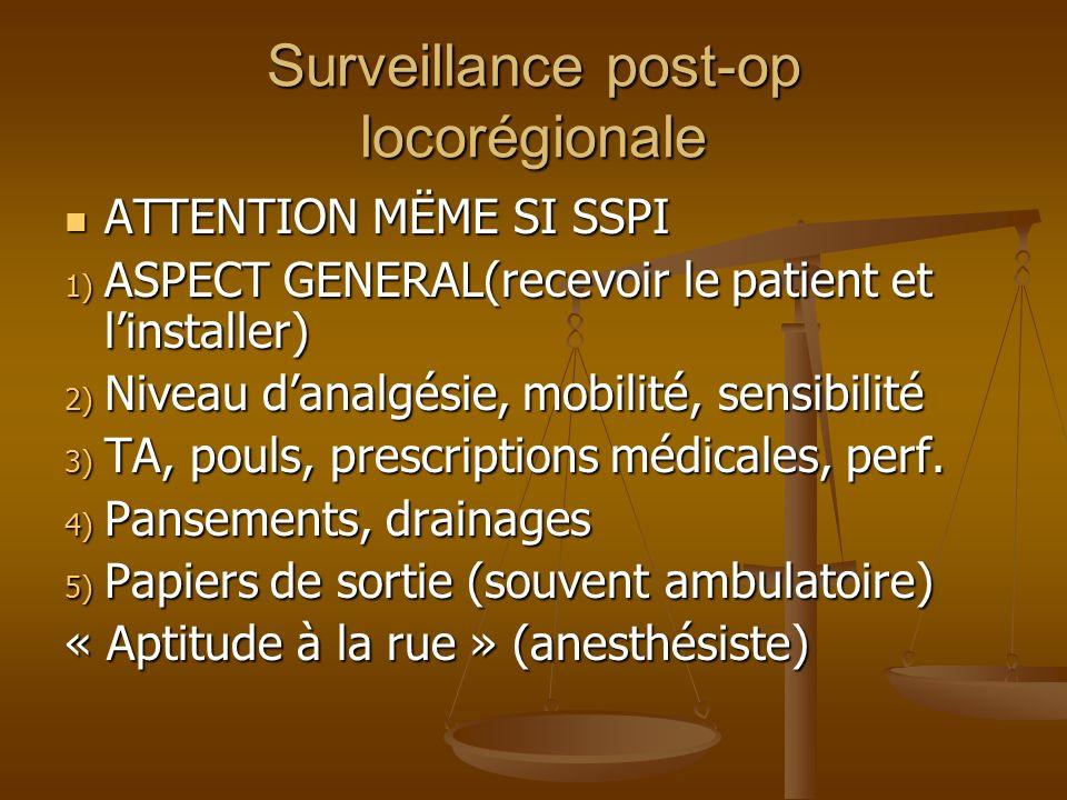 Surveillance post-op locorégionale
