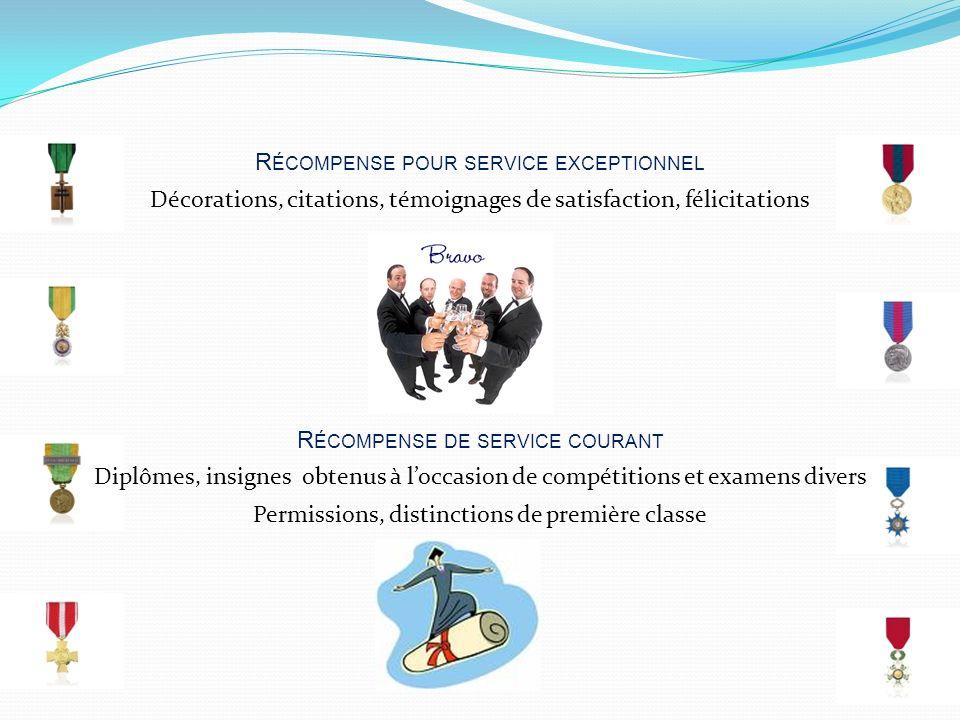 Récompense pour service exceptionnel