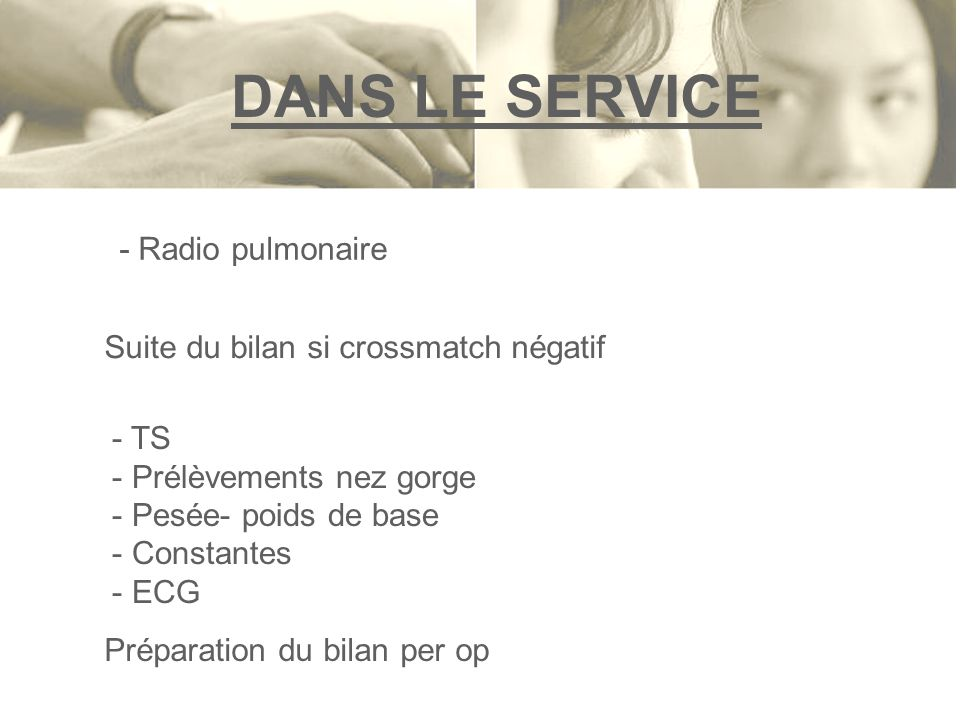 DANS LE SERVICE - Radio pulmonaire