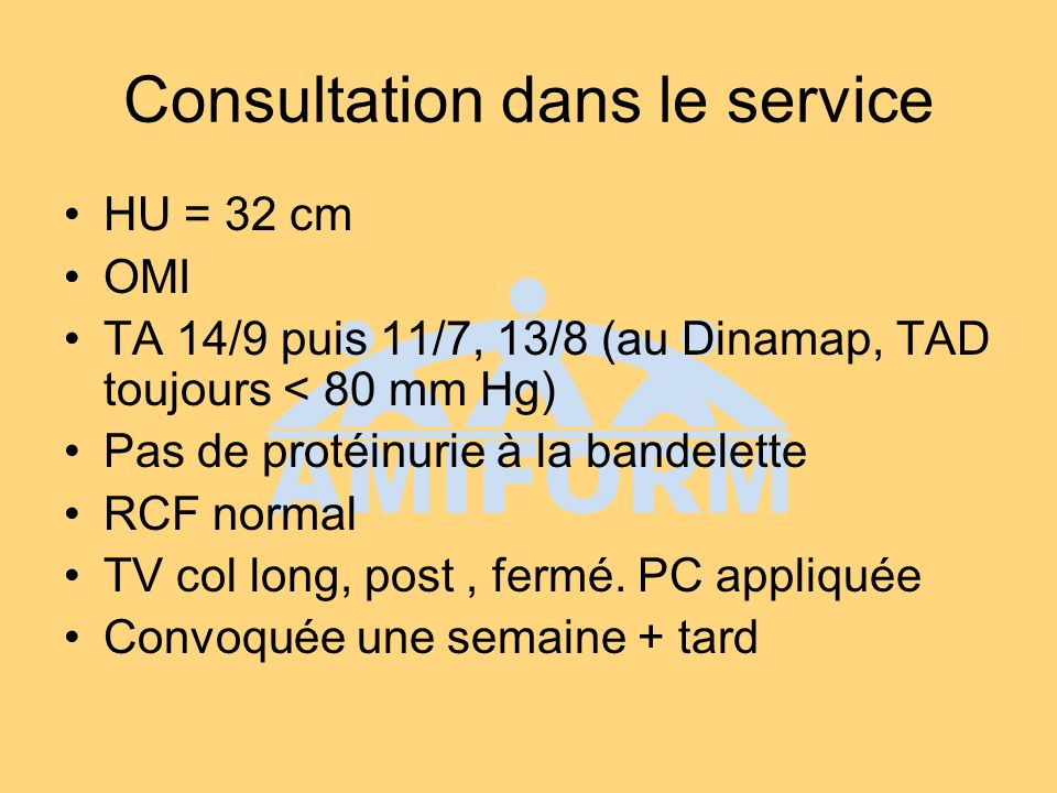 Consultation dans le service