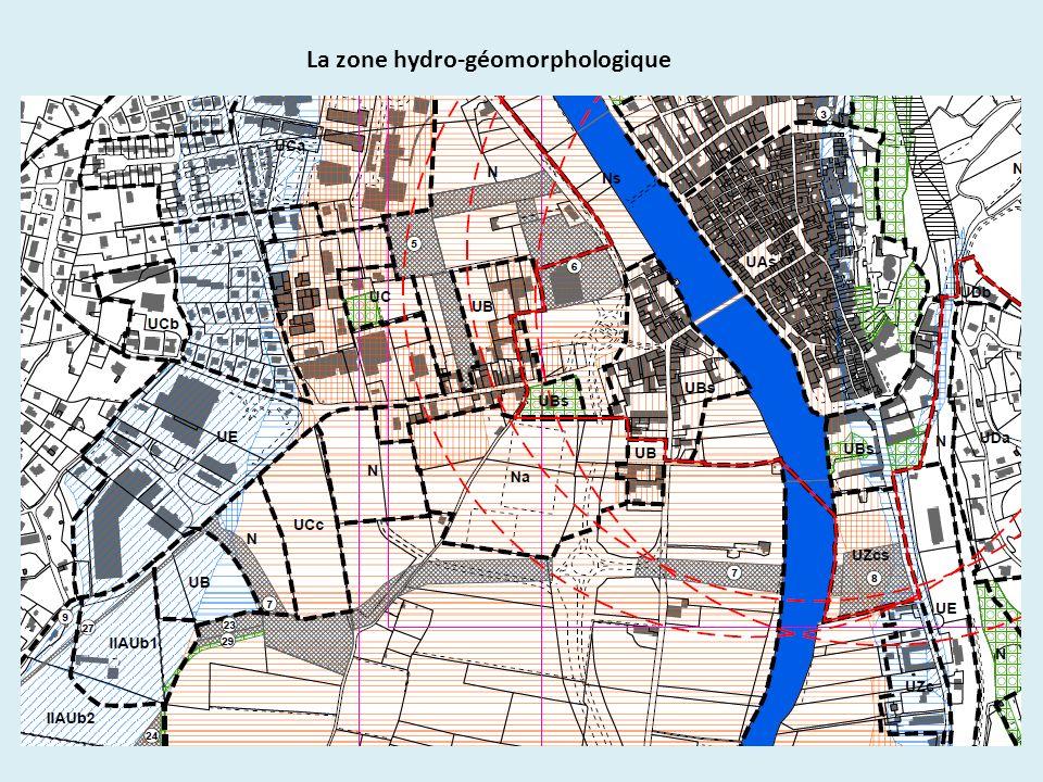 La zone hydro-géomorphologique
