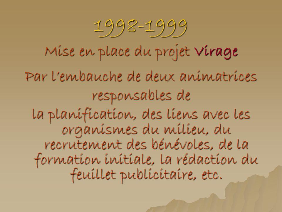 1998-1999 Mise en place du projet Virage
