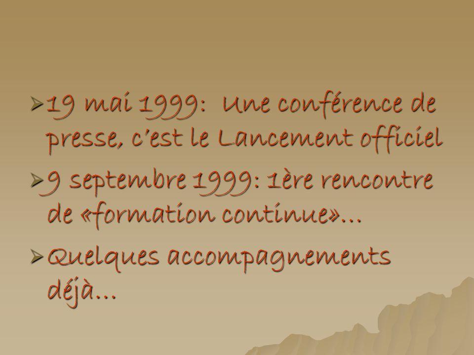 19 mai 1999: Une conférence de presse, c'est le Lancement officiel