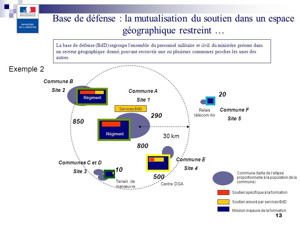 30/03/2017 Base de défense : la mutualisation du soutien dans un espace géographique restreint …