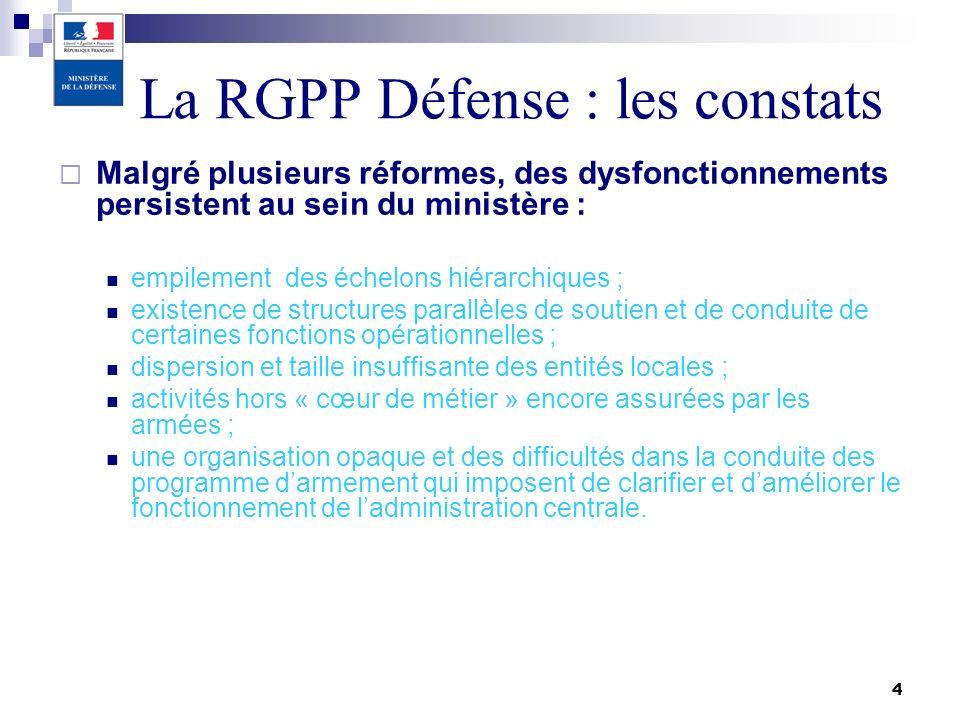 La RGPP Défense : les constats