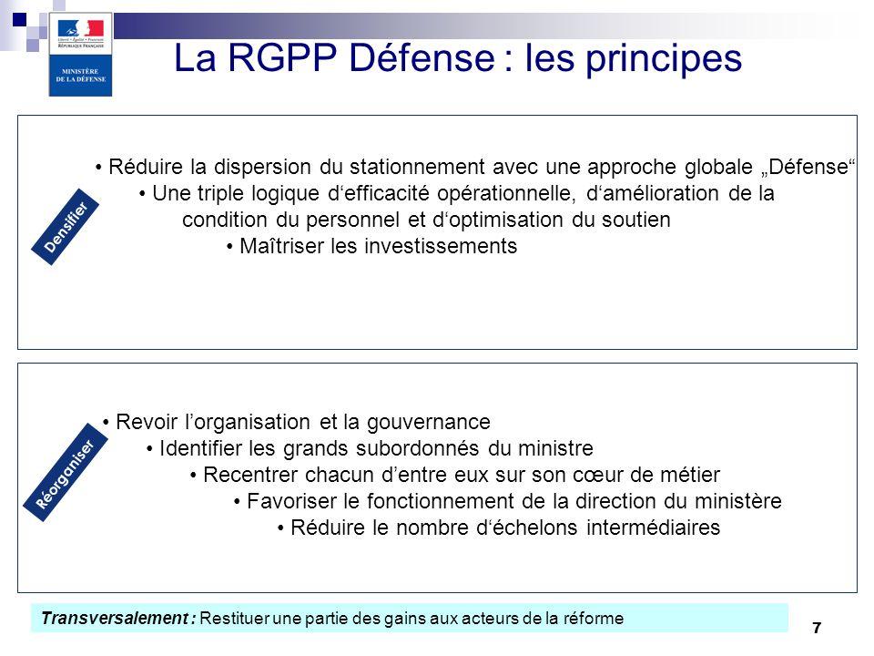 La RGPP Défense : les principes