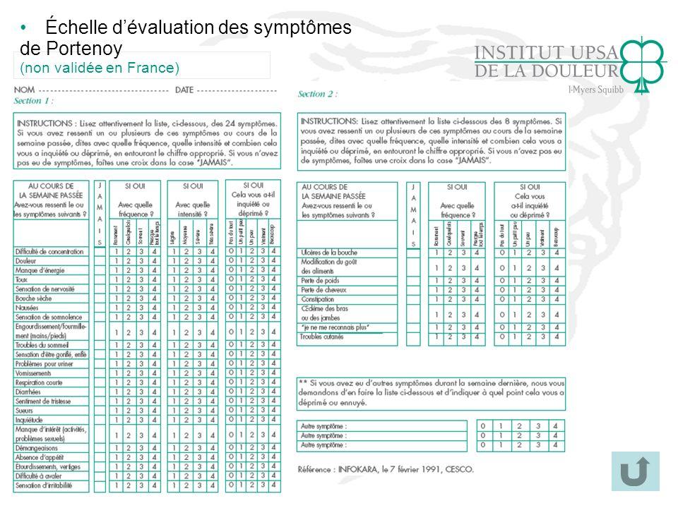 Échelle d'évaluation des symptômes de Portenoy