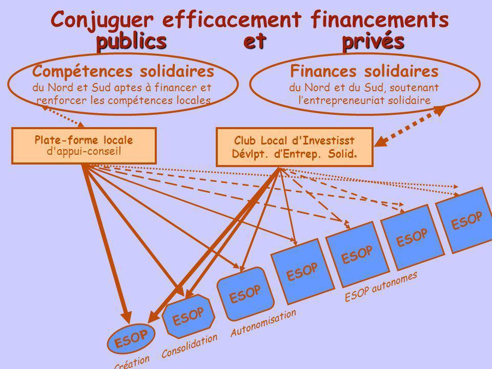 Conjuguer efficacement financements publics et privés