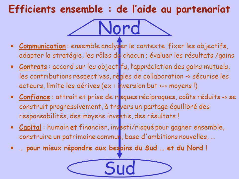 Efficients ensemble : de l'aide au partenariat