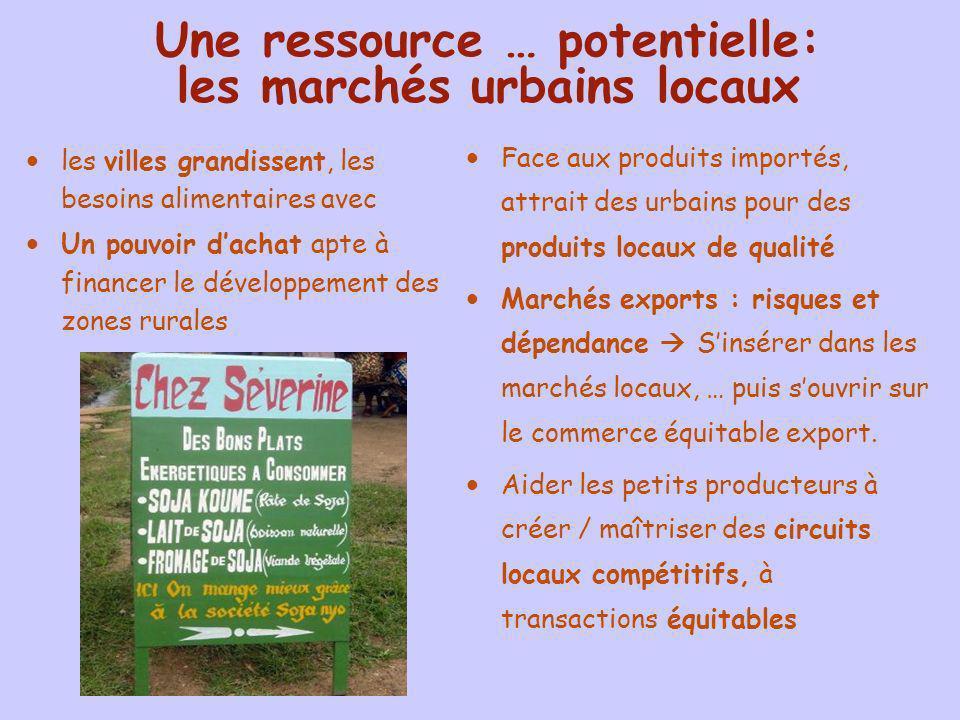 Une ressource … potentielle: les marchés urbains locaux