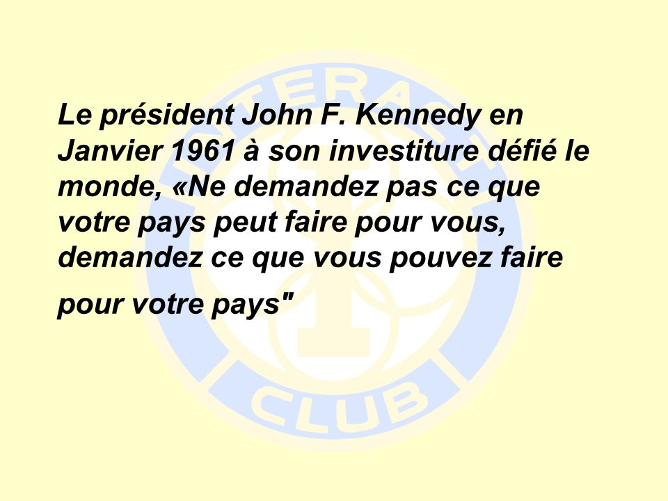 Le président John F.