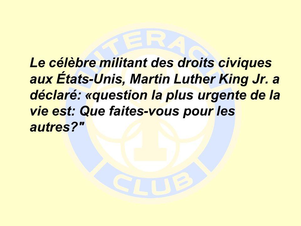 Le célèbre militant des droits civiques aux États-Unis, Martin Luther King Jr.