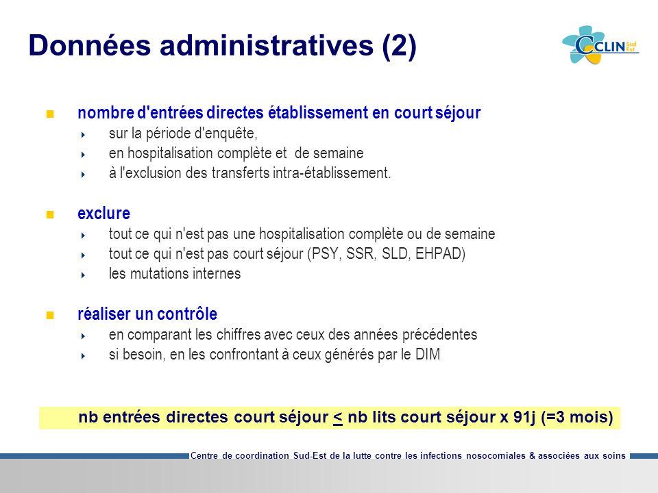 Données administratives (2)
