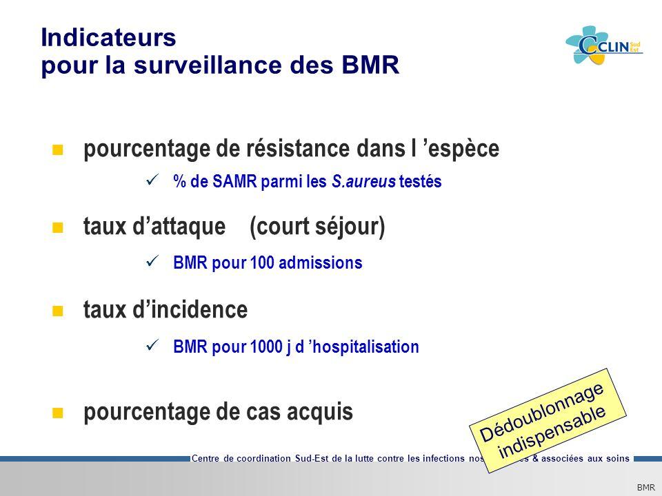 Indicateurs pour la surveillance des BMR