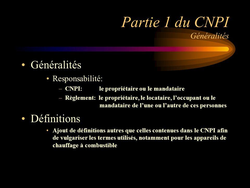 Partie 1 du CNPI Généralités