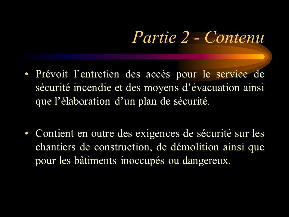 Partie 2 - Contenu