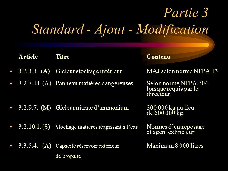 Partie 3 Standard - Ajout - Modification