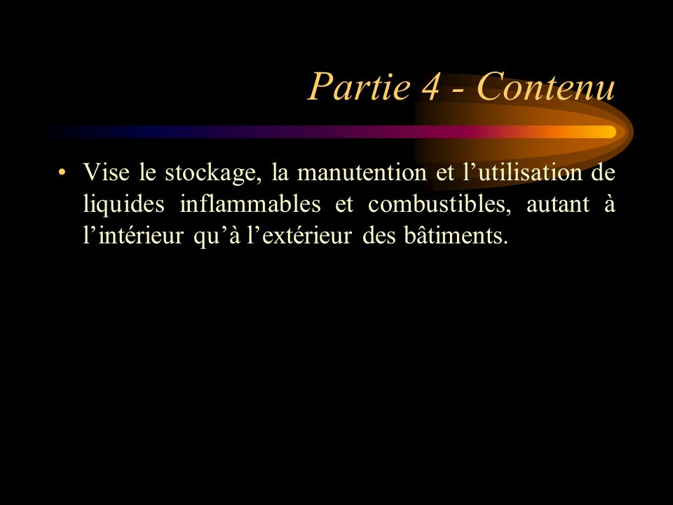 Partie 4 - Contenu