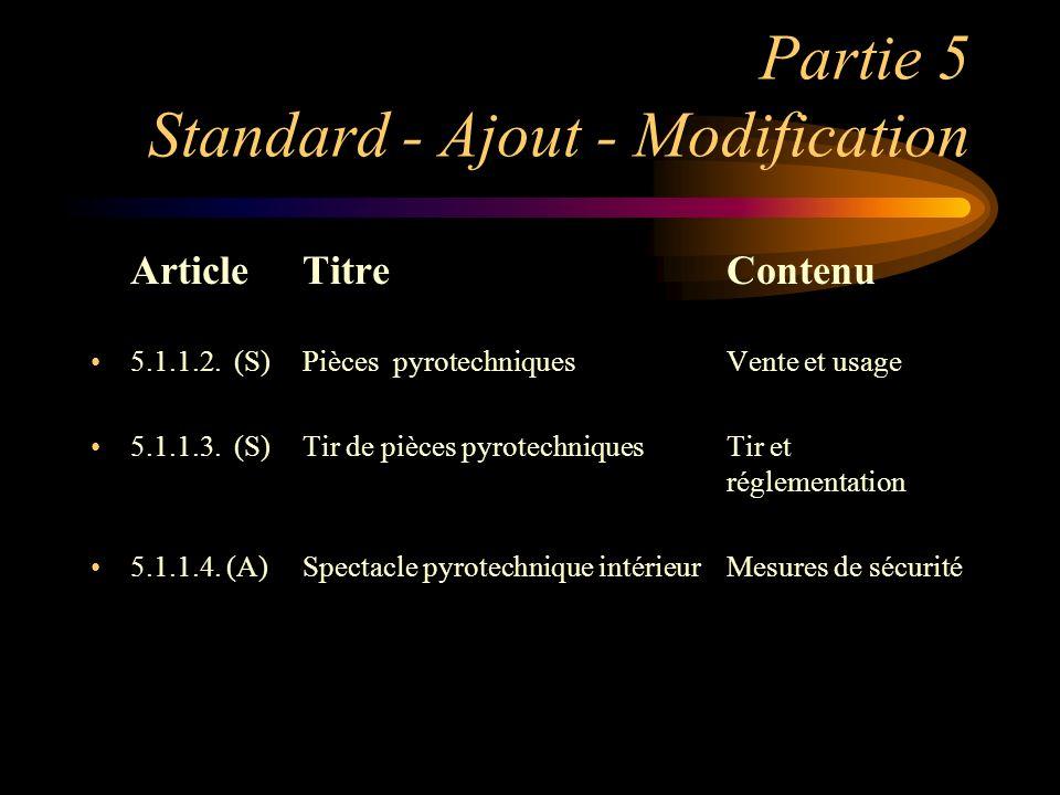 Partie 5 Standard - Ajout - Modification