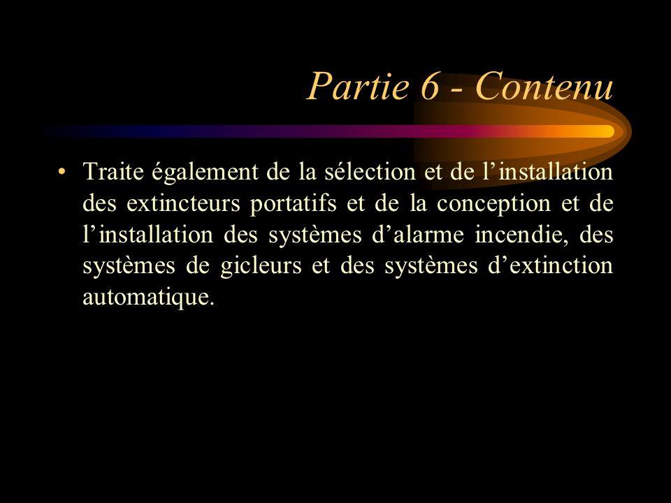 Partie 6 - Contenu
