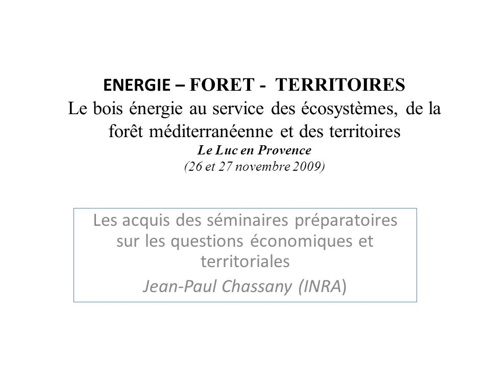 Jean-Paul Chassany (INRA)