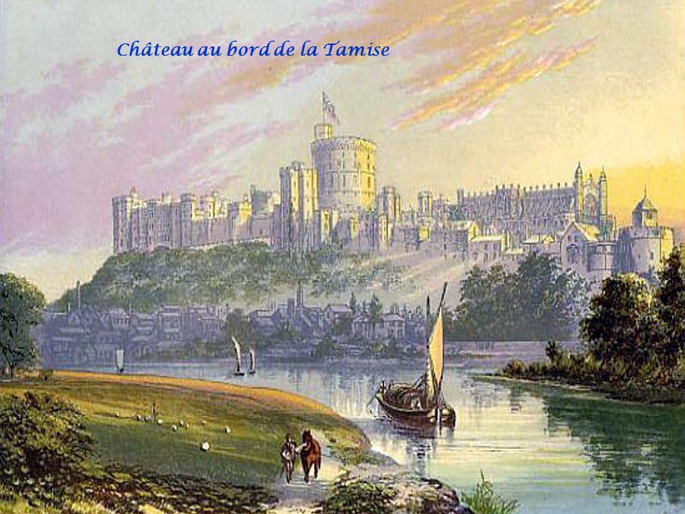Château au bord de la Tamise